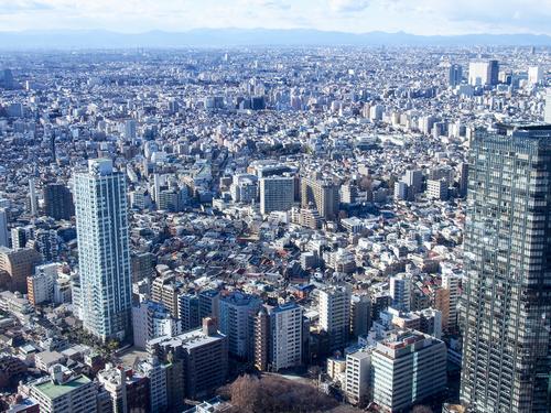 空から見た都会の景色