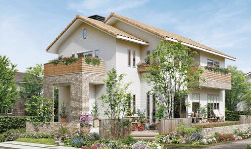 クレバリーホーム「KiRaRa」シリーズのおしゃれで可愛らしい家の外観