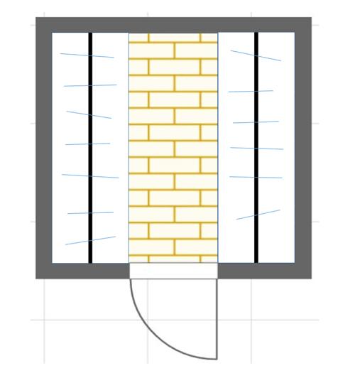 II型ウォークインクローゼットの間取り図