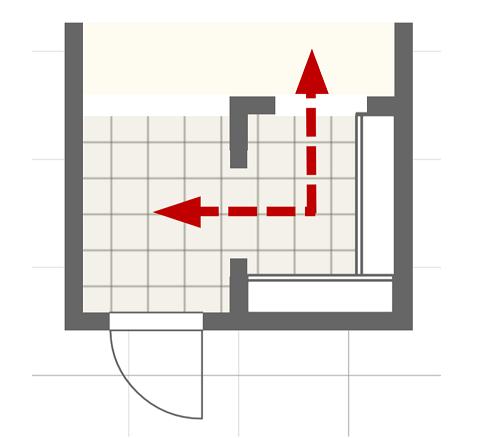 ウォークスルータイプのシューズクロークの間取り図